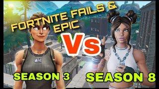 EPIC - FUNNY - FAILS moments in Fortnite ( Season 3 - season 8) QLF !!