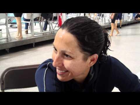 Janet Evans Austin Grand Prix -  800m freestyle interview