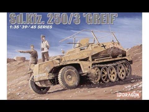 Sdkfz 250//3 Greif Dragon 6125-1//35 WWII Dt Neu