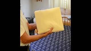 Another method to fold a fitted sheet