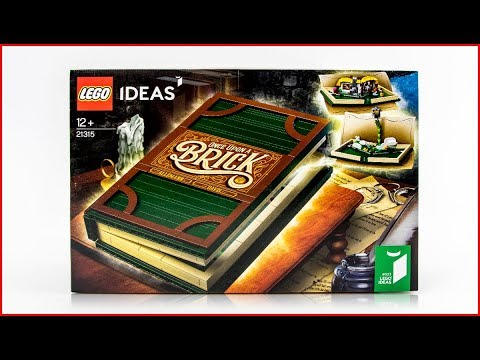 UNBOXING LEGO 21315 Ideas Pop-Up Book Construction Toy