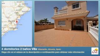 preview picture of video '4 dormitorios 2 baños Villa se Vende en Villamartin, Alicante, Spain'