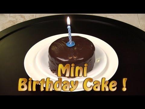 How To Make A Mini Chocolate Birthday Cake