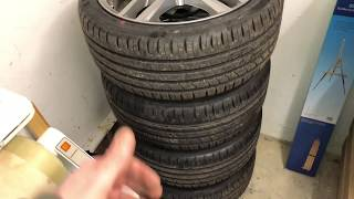 PKW Reifen Felgenbaum Montage und Felgenständer bestücken Reifen einlagern Reifen Stapel Anleitung
