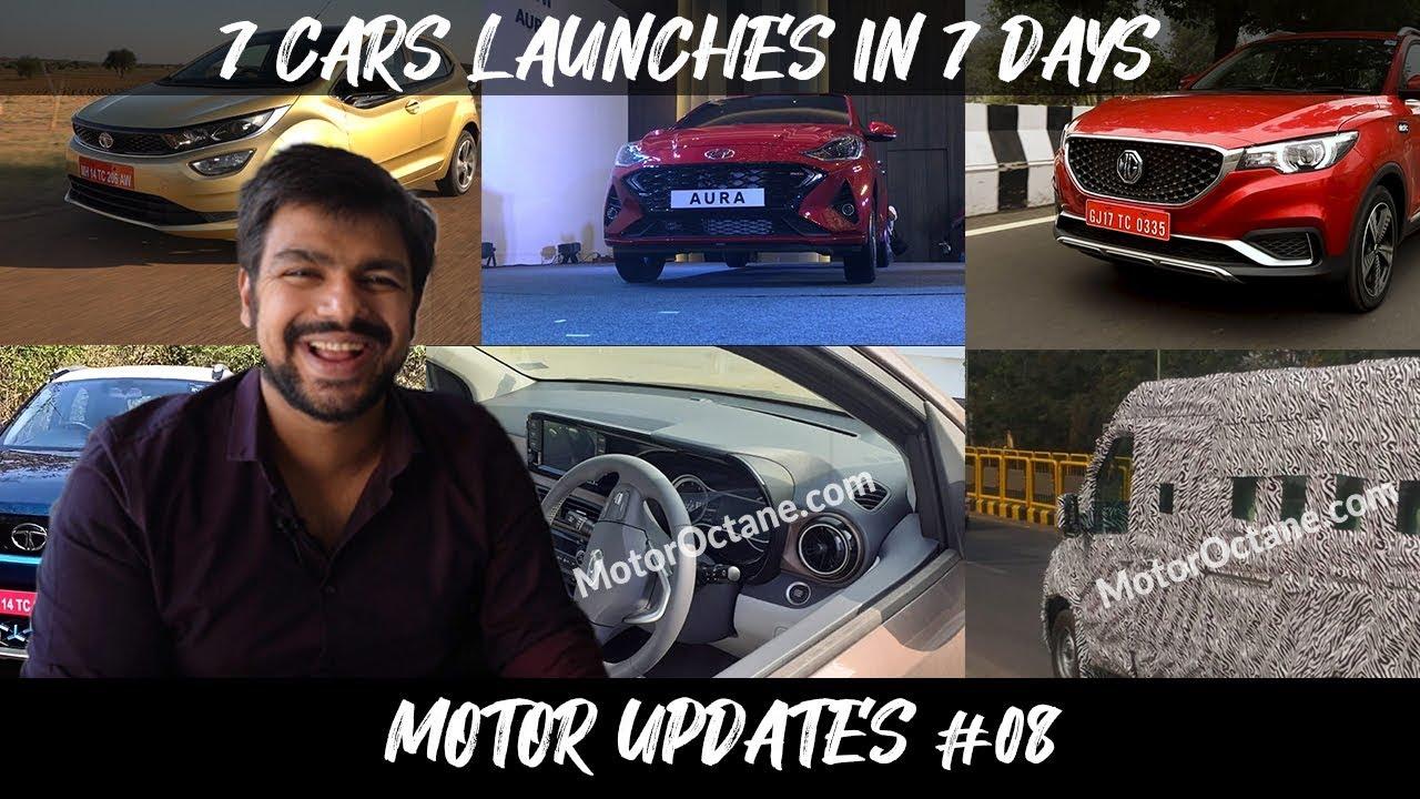 Motoroctane Youtube Video - 7 Car launches in 7 days - Tata Altroz, Hyundai Aura and MG ZS