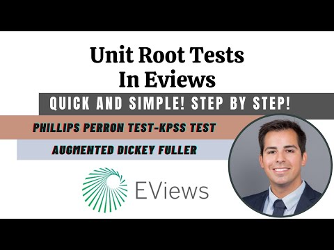 Unit root tests in Eviews - Stationarity