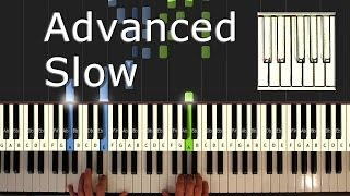 Scott Joplin - The Entertainer - Piano Tutorial Easy SLOW - How To Play (synthesia)