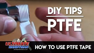 How to use PTFE tape to seal threads.
