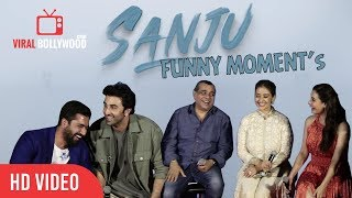 SANJU Back 2 Back Funny Moment   Ranbir Kapoor, Sonam Kapoor, Entire Cast   GRAND Trailer Launch