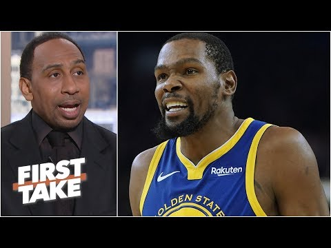 Kevin Durant will drop 40 on the Lakers - Stephen A. l First take 34dcc2cb7