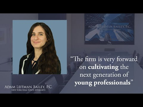 """The firm is very forward on cultivating the next generation of young professionals"" testimonial video thumbnail"