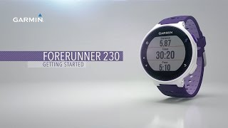 Forerunner 230: Getting Started with Your Watch with Smart Features