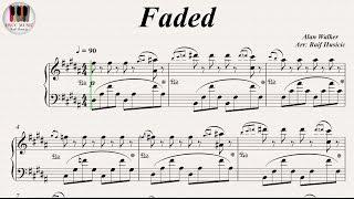 Faded - Alan Walker, Piano