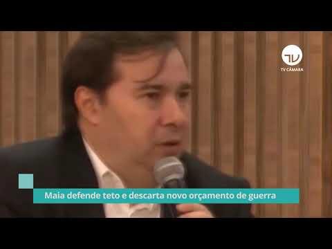 Maia defende teto e descarta novo orçamento de guerra - 06/11/20