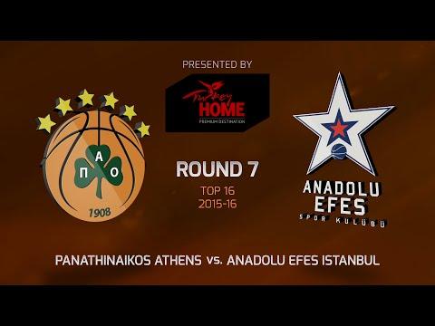 Highlights: Top 16, Round 7, Panathinaikos Athens 83-78 Anadolu Efes Istanbul