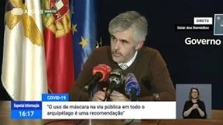 04/05: Ponto de Situação da Autoridade de Saúde Regional sobre o Coronavírus nos Açores