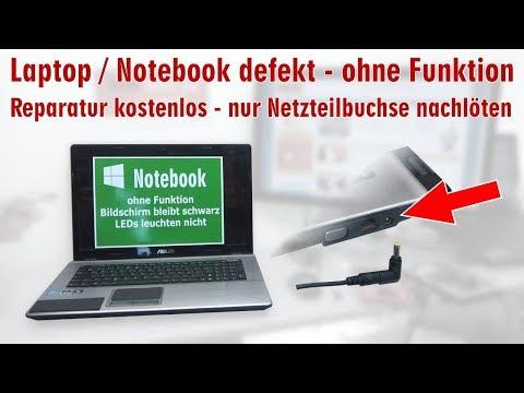 Laptop Reparatur kostenlos - nur Netzteilbuchse nachlöten - Notebook defekt ohne Funktion - [4K]