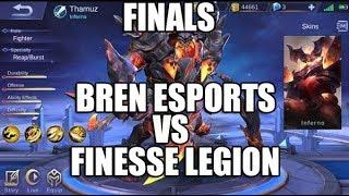 BREN ESPORTS vs FINESSE LEGION - MESA FINALS - MOBILE LEGENDS - GAMEPLAY - PRO PLAYERS