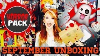 Horror Pack September 2016 Unboxing Horror Movies Blu-Ray DVD