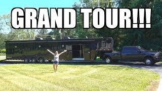 GRAND TOUR of the 48' Race Trailer + 5 things I ALREADY HATE!!!!