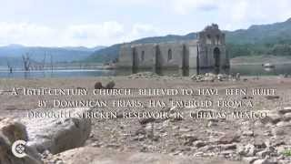 Old Mexican church revealed by drought