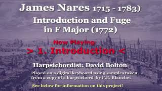 James Nares (1715-1783) Introduction And Fugue In F Major (1772)