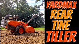 YARDMAX YT4565 Dual Rotating Rear Tine Tiller
