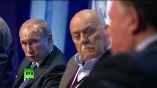 Владимир Путин выступает на форуме ОНФ  «Качественное образование во имя страны»