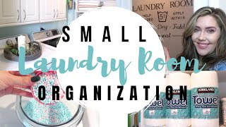 Small Laundry Room Organization For 2020! How To Organize A Small Space &  Laundry Room Tips/Radiate
