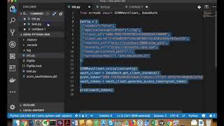 Using the Zoho CRM Python SDK to access data via API v2