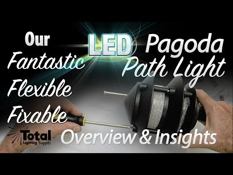 Our flexible, fixable, fantastic LED Outdoor Landscape Lighting 3-Tier Pagoda Light Overview