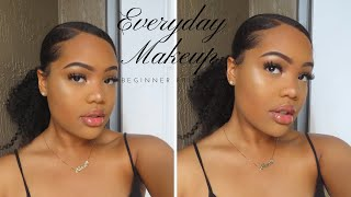 Everyday Natural Affordable Makeup Tutorial || For Black Women || Beginner Friendly
