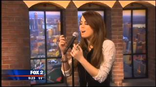 "Angie Miller performing ""This Christmas Song on Fox Detroit"