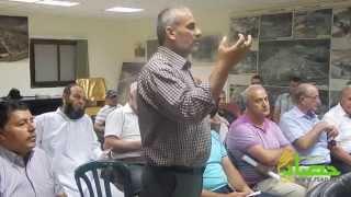 كلمة الشيخ سمير سرحان في الاجتماع الذي عقد حول استنكار اعمال التخريب6/8/2014