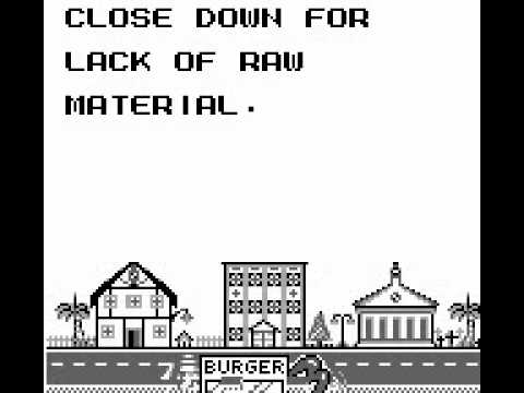 Crazy Burger Game Boy