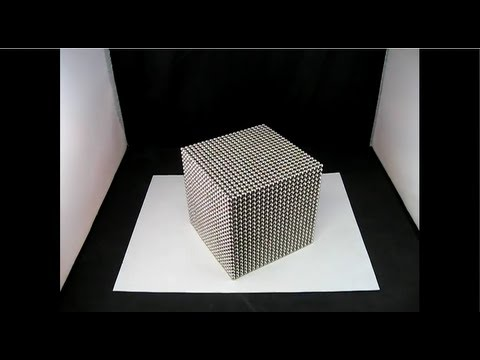 Massive Zen Magnet Cube and Destruction