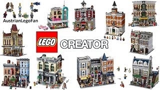 Lego Creator Modular Buildings Compilation of all Sets 2009-2018 - Lego Speed Build Review
