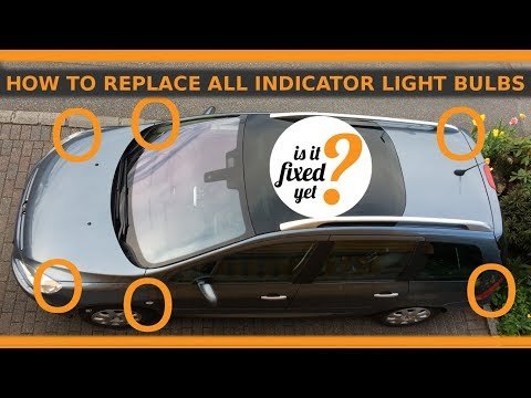 Changing ALL 6 TURNING INDICATOR LIGHT BULBS - Peugeot 307