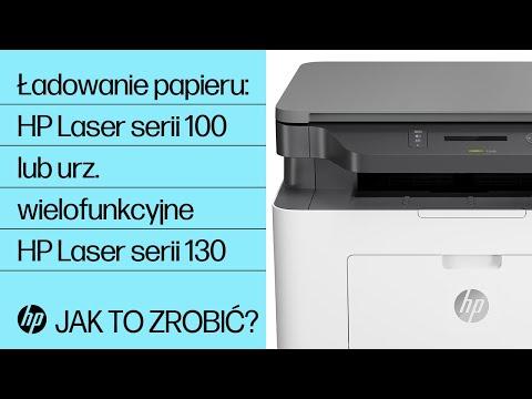 Ładowanie papieru do drukarki HP Laser serii 100 lub urządzenia wielofunkcyjnego HP Laser serii 130