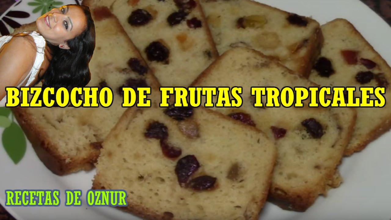 BIZCOCHO DE FRUTAS TROPICALES | recetas de cocina faciles rapidas y economicas de hacer - comidas