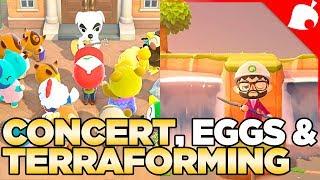 KK Slider Concert, Eggs Everywhere, & Terraforming in Animal Crossing New Horizons