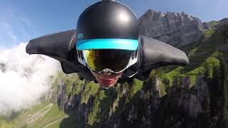 Wingsuit Action in Switzerland. Aviapeople are flying HD 1080p