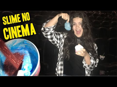 FAZENDO SLIME NO CINEMA! SLIME EM LUGARES INUSITADOS #4