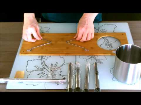 Aufbauanleitung - Bambusregal - Küchenregal - Neuer ArtikelNr 13080