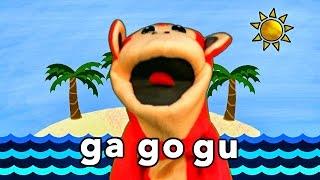 Sílabas Ga Go Gu - El Mono Sílabo - Videos Infantiles - Educación Para Niños #