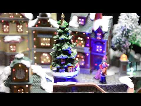 Led Christmas Village Ornament With