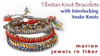 Tibetan Knot Bracelet | Interlocking Snake Knots The Easy Way!