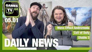 Mass Effect Andromeda, Call of Duty, Diablo 3 | Games TV 24 Daily - 05.01.2017