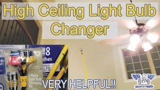 Light Bulb Changer for High Ceiling
