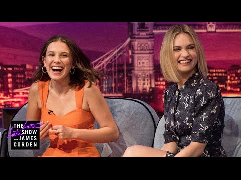 Millie Bobby Brown & Lily James Spice Up Their Lives - #LateLateLondon